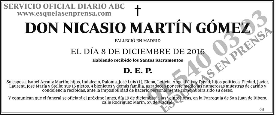 Nicasio Martín Gómez